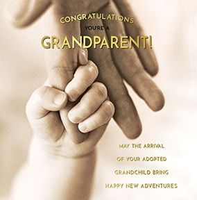 Adopted Grandchild Personalised Card