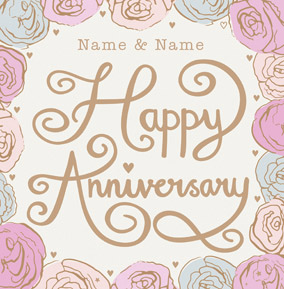 HIP - Happy Anniversary floral