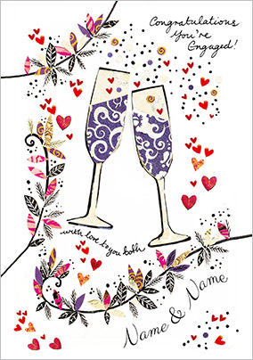 Artisan - Engagement Card Champagne Congratulations