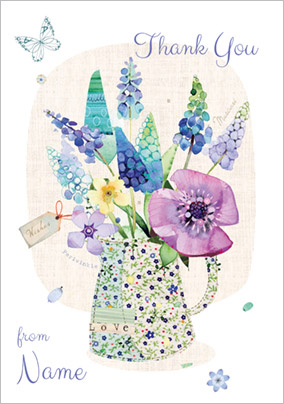 Bluebell Woods - Thank You Card A Jug of Flowers