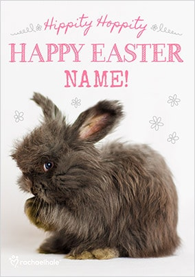 Bunny Happy Easter Personalised Card