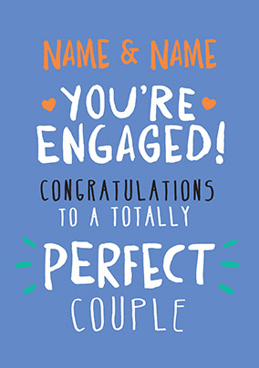 Engagement Congratulations Card - Rock, Paper, Awesome