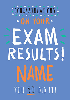 Congratulations, Exam Results! Card - Rock, Paper, Awesome