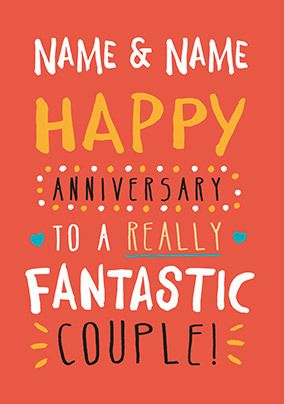 Fantastic Couple Anniversary Card