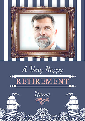 Sail Away with Me - Retirement Card Photo Upload