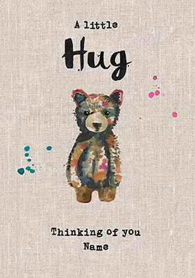 A Little Hug - Thinking Of You Personalised Card