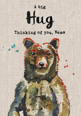 A Big Hug - Thinking Of You Personalised Card
