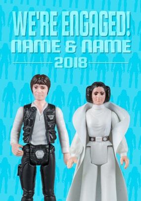 Han Solo & Leia Personalised Engagement Card