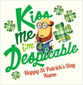 Kiss Me Minions St. Patrick's Day Card