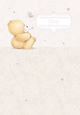 Forever Friends - Words Can't Replace Hugs Personalised Card