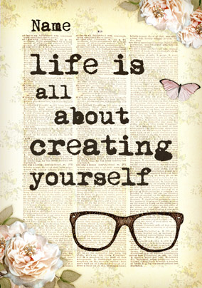 Bookish Type - Creating Yourself