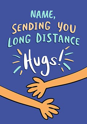 Long Distance Hugs Card