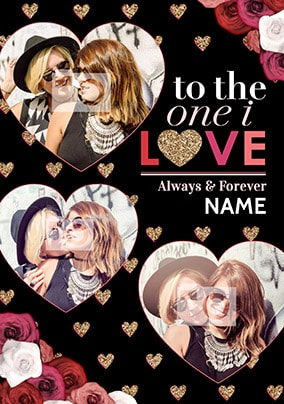 The One I Love Multi Photo Anniversary Card
