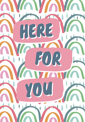 Here for you personalised Card