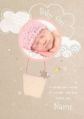 Baby Girl New World Of Wonder Photo Card