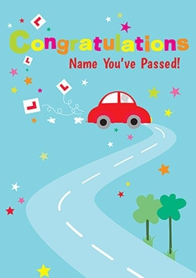 Passed Driving Test Congratulation Cards   Funky Pigeon