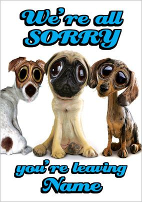 Goof Gallery - We're Sorry You're Leaving