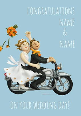 Congratulations On Your Wedding Day! Personalised Card