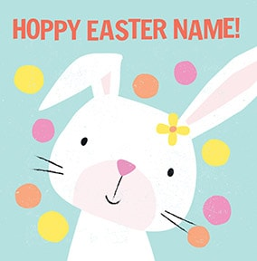 Happy Easter Bunny Personalised Card