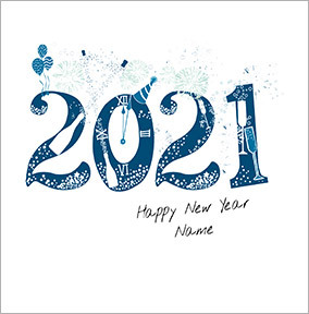 Happy New Year 2021 Card