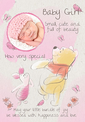 9e30fb0e1834 More like this... Disney Winnie the Pooh New Baby Card - Very Special Girl