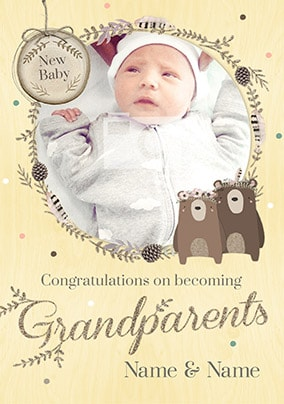Congratulations On Becoming Grandparents Card - Winter Wonderland