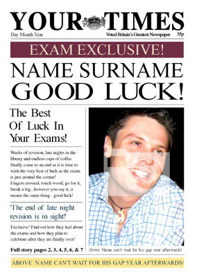 Your Times - Exams Good Luck