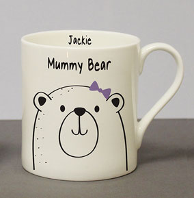 8e4064cd261 preview image is not found. Personalised Text. was £0.00 NOW £9.99. Mummy  Bear Chunky Balmoral Mug. mum - love you multi photo mug