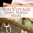 Personalised Antique Sentiment Bon Voyage Card