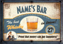 Personalised Whiskey bar sign poster