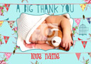 Personalised Belle Vue New Baby Card