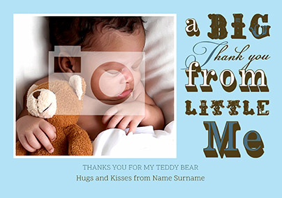 O So Fanciful Personalised New Baby Card