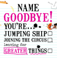Greater Things - Goodbye