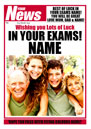 Spoof Newspaper Personalised Good Luck Card