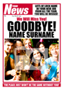 Spoof Newspaper Personalised Leaving Card