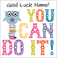 ... Good Luck Card Unicorn Believe In Yourself. Little Cherry On Top   You  Can Do It!  Good Luck Card Template