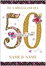 Golden 50th wedding anniversary cards funky pigeon preview image is not found m4hsunfo