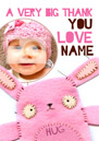 O Sew Cute Personalised New Baby Card