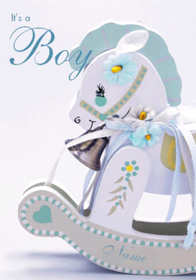 Baby Photo - Rocking Horse Boy