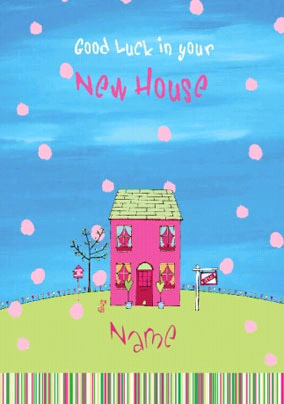 Colourful New Home card