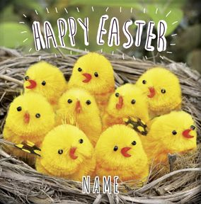 Cardmix Photo - Happy Easter Chicks Card