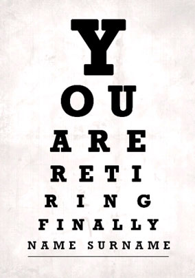 Eye Test - Retirement