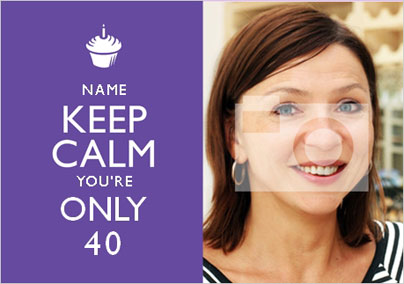 Keep Calm - You're Only 40 Photo