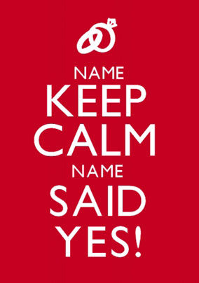 Keep Calm - Said Yes