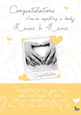 love photos expecting - Pregnancy Congratulations Card