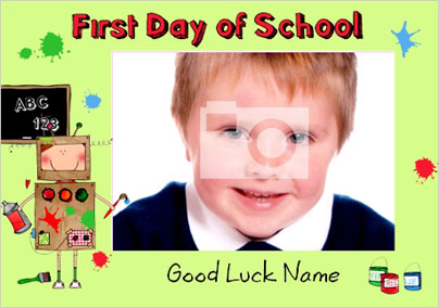 First Day At School New School Cards Funky Pigeon