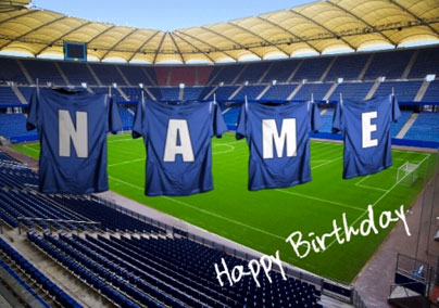 Football Strip - Dark Blue Birthday