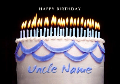 Birthday Cake Blue Uncle Funky Pigeon