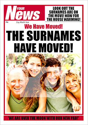 Your News - Moved House
