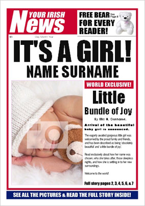 Irish News - New Baby Girl